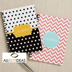 Preppy Chic Personalized Mini Notebooks