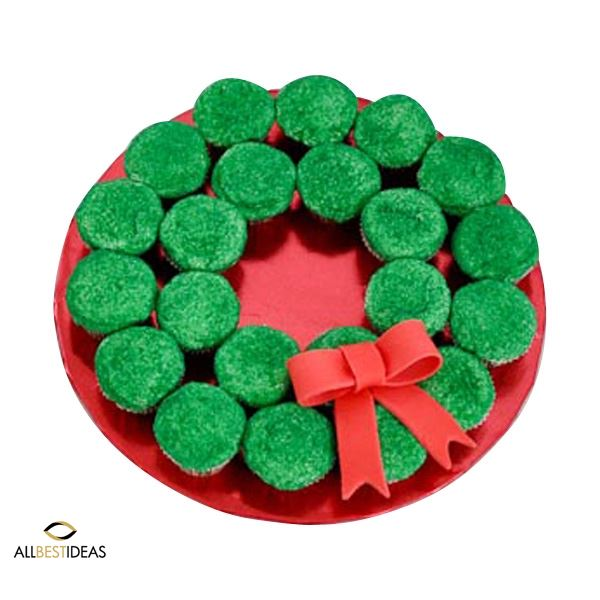 Wreath Christmas Cup Cake!