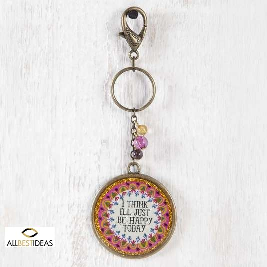 Happy Today Glitter Key Chain!