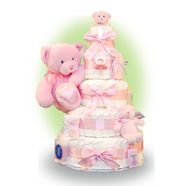 First Teddy 5 Tier Newborn Diaper Cake