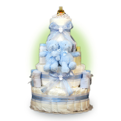 Baby Gund Twins Boy 4 Tier Cake!