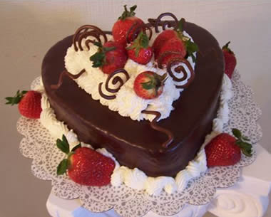Heart Chocolate Cake!