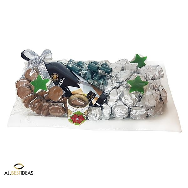 Chocolate and wine arrangement