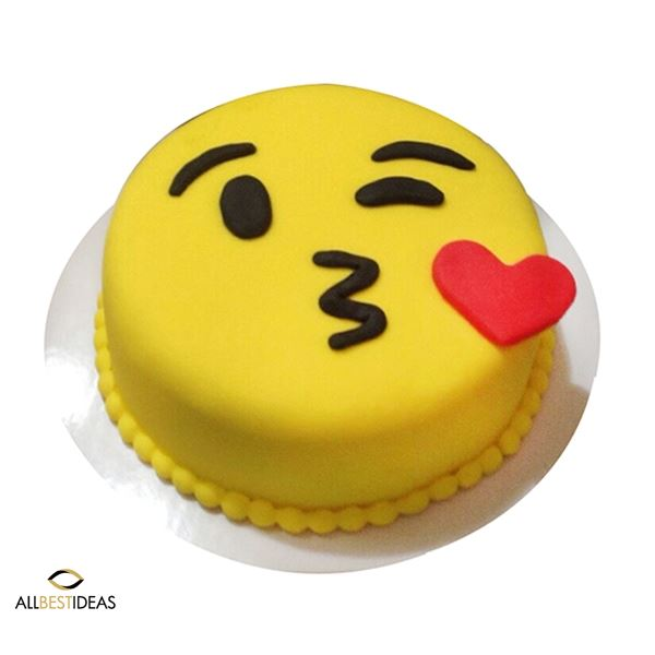 Emoji Happy Cake