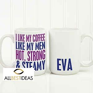Funny Morning Quote Personalized Coffee Mug!