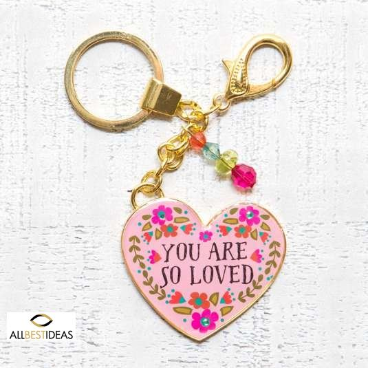Glitter and Gold Key Chains You are So Loved!