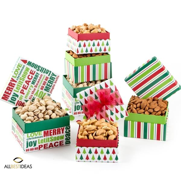 Holiday Gourmet Nuts Gift Tower!