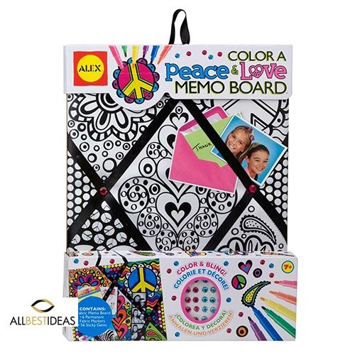 Color Peace And Love Memo Board
