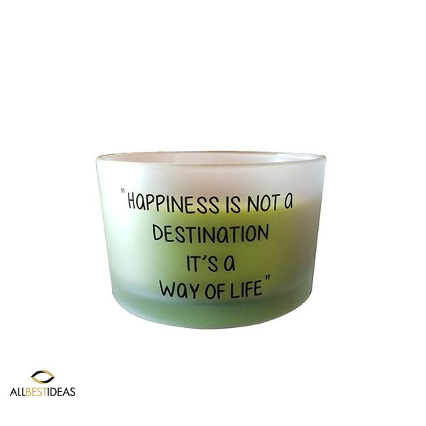Large Scented candles with quotes