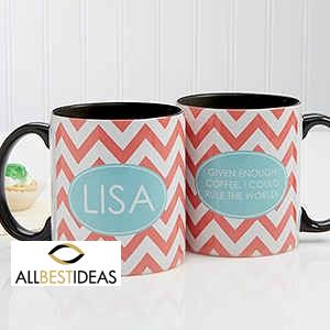 Preppy Chic Personalized Coffee Mug!