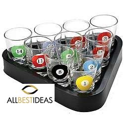 10 pcs shot Glass pool game