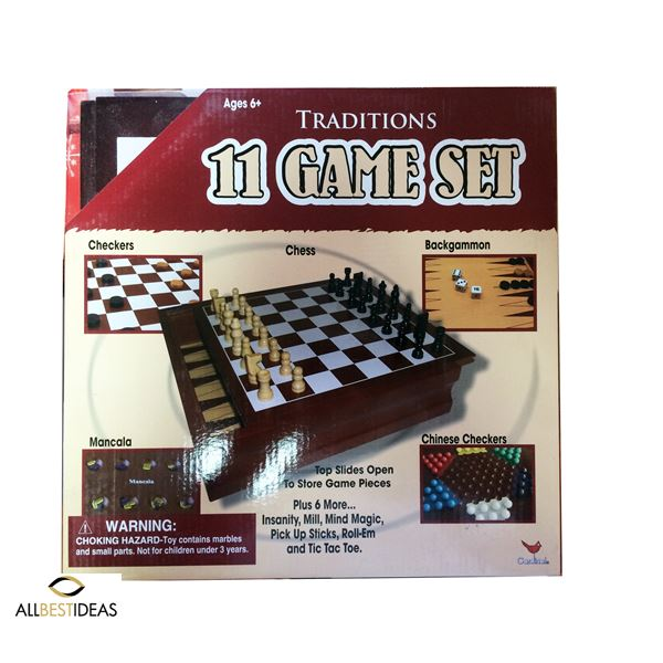 11 board game set