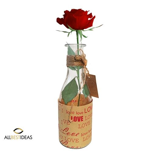 Single Rose in a Bottle