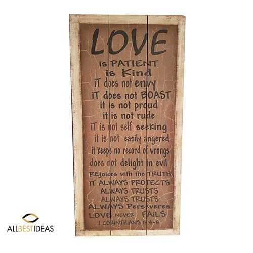 Wooden Love Hanger