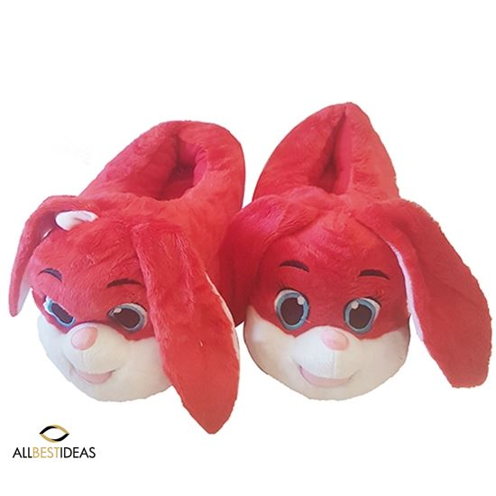 Red Bunny Slippers