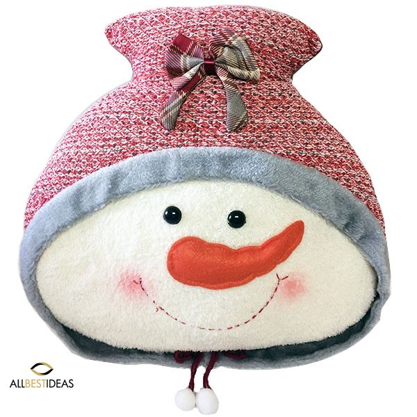 Lovely snowman pillow
