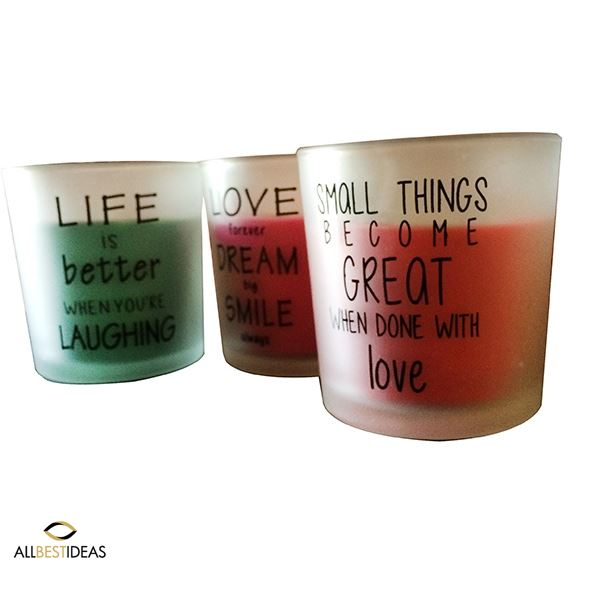 Quoted scented candles