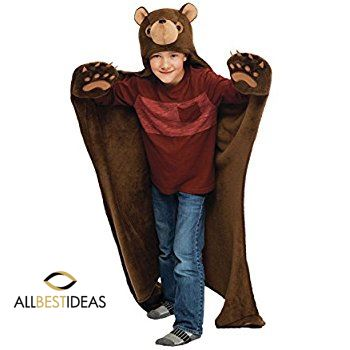 Timber Brown Bear Wearable Hooded Blanket