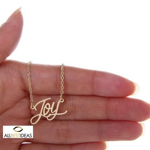 Yellow Gold Name Necklace!