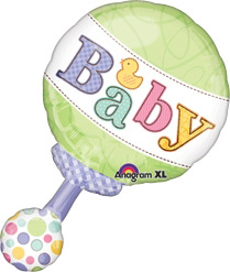 New Baby Rattle Balloon !