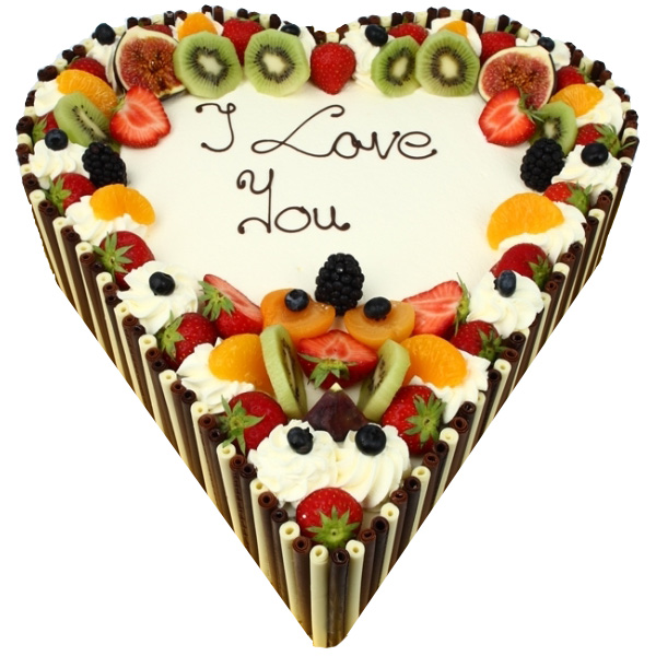 Heart Fresh Fruit Cake!