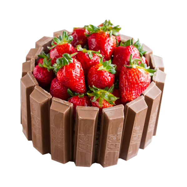 Strawberry KitKat Cake!